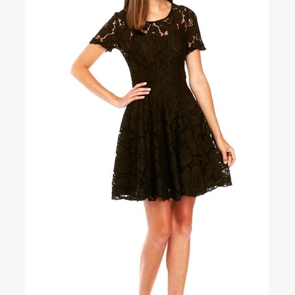 Michael Kors Dresses Black Lace Fit Flare Dress Poshmark